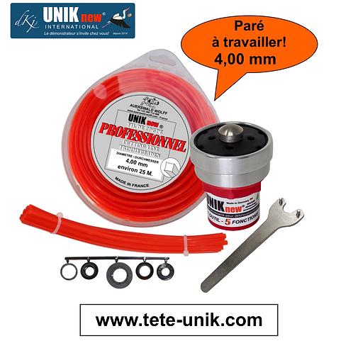 """Kit """"Paré à travailler"""" UNIK technik 4,00mm"""