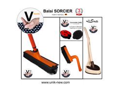 Kit Complet Balai SORCIER famille orange