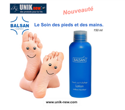 """BALSAN Lotion pieds et mains. Lotion """"Nouvelle"""" 150ml"""