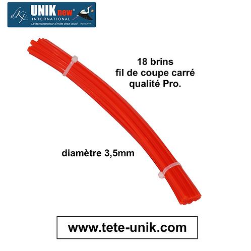 Fagot brins de fil carré 3,5mm Qualité Pro