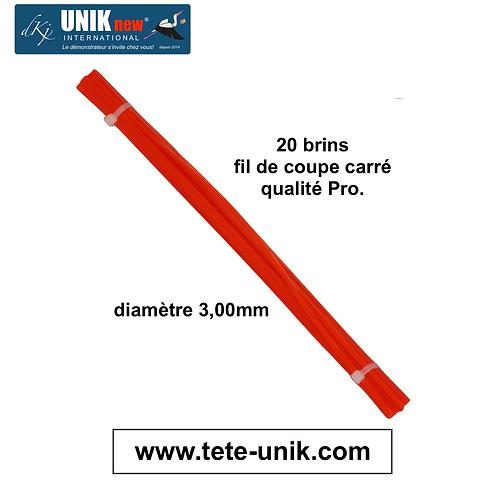 Fagot fil carré Qualité Pro 3,00mm (20 brins) UNIK new