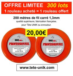 Offre limitée fil UNIK1,3mm