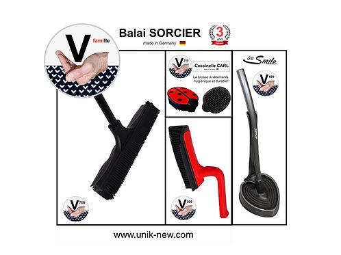 Balai SORCIER Kit complet rouge et noir / SMILE anthracite