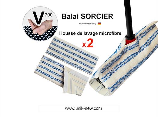 Balai SORCIER V700 UNIK NEW sasu. Housse de lavage microfibre haute densité.