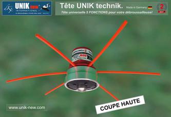 Coupe Haute Tête UNIK technik pour débroussailleuse