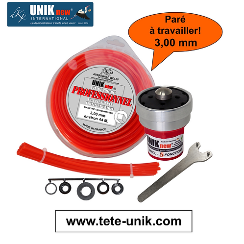 Kit Tête UNIK Technik 3,00mm