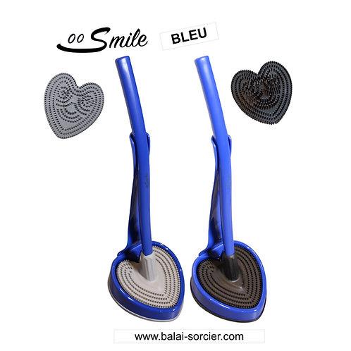 SMILE V600 picots bleu . Brosse toilettes Balai SORCIER.