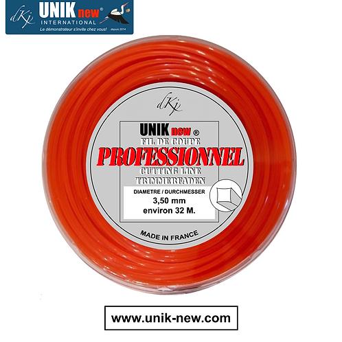 Rouleau fil carré 3,5mm Qualité Pro UNIK new