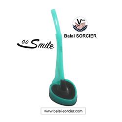 SMILE: Brosse toilette hygiénique anti-goutte, antibactérienne, durable garantie 6 ans.