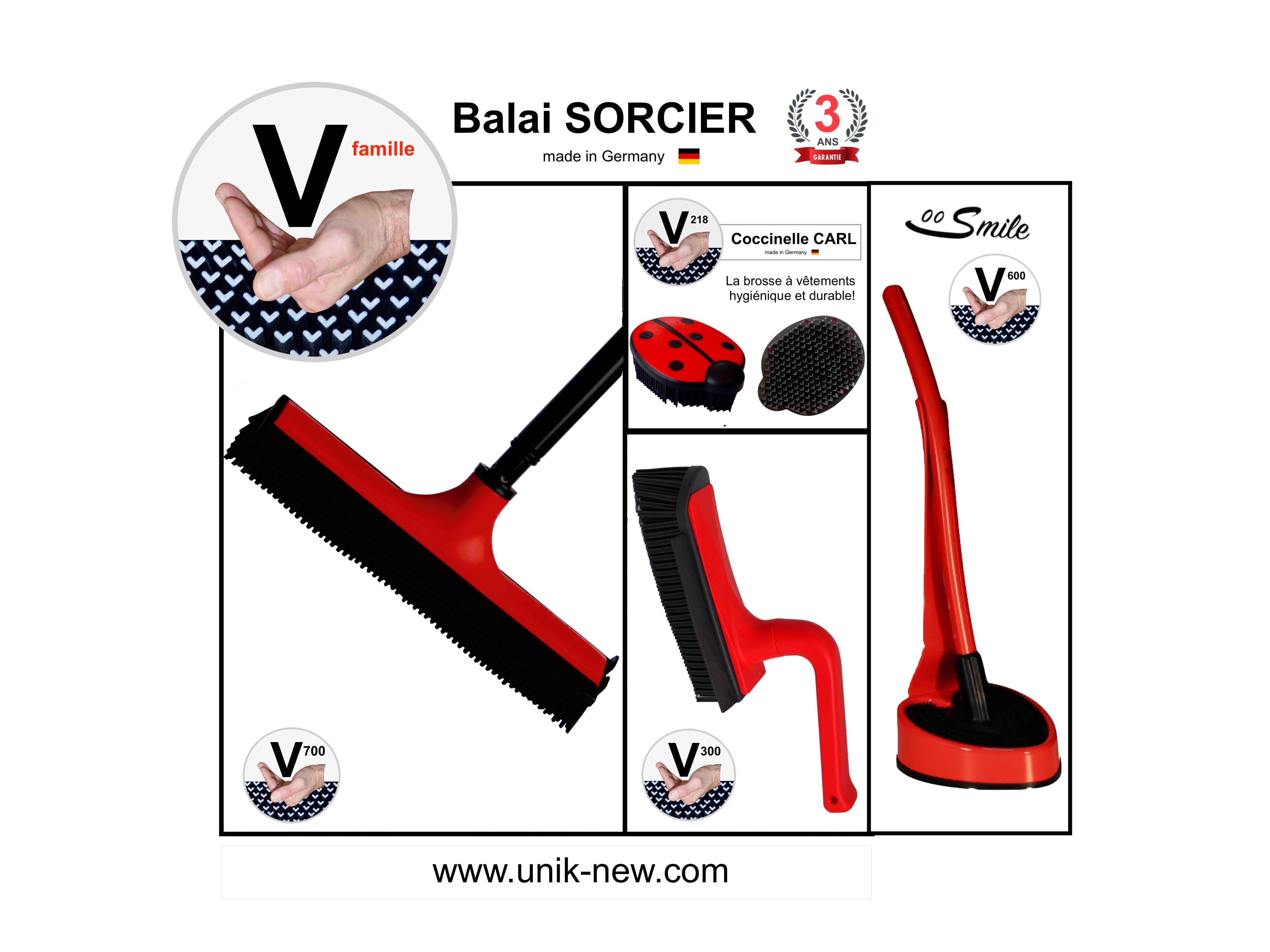 Kit Complet Balai SORCIER famille rouge
