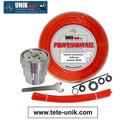 Kit Tête UNIK inox 4,00mm.