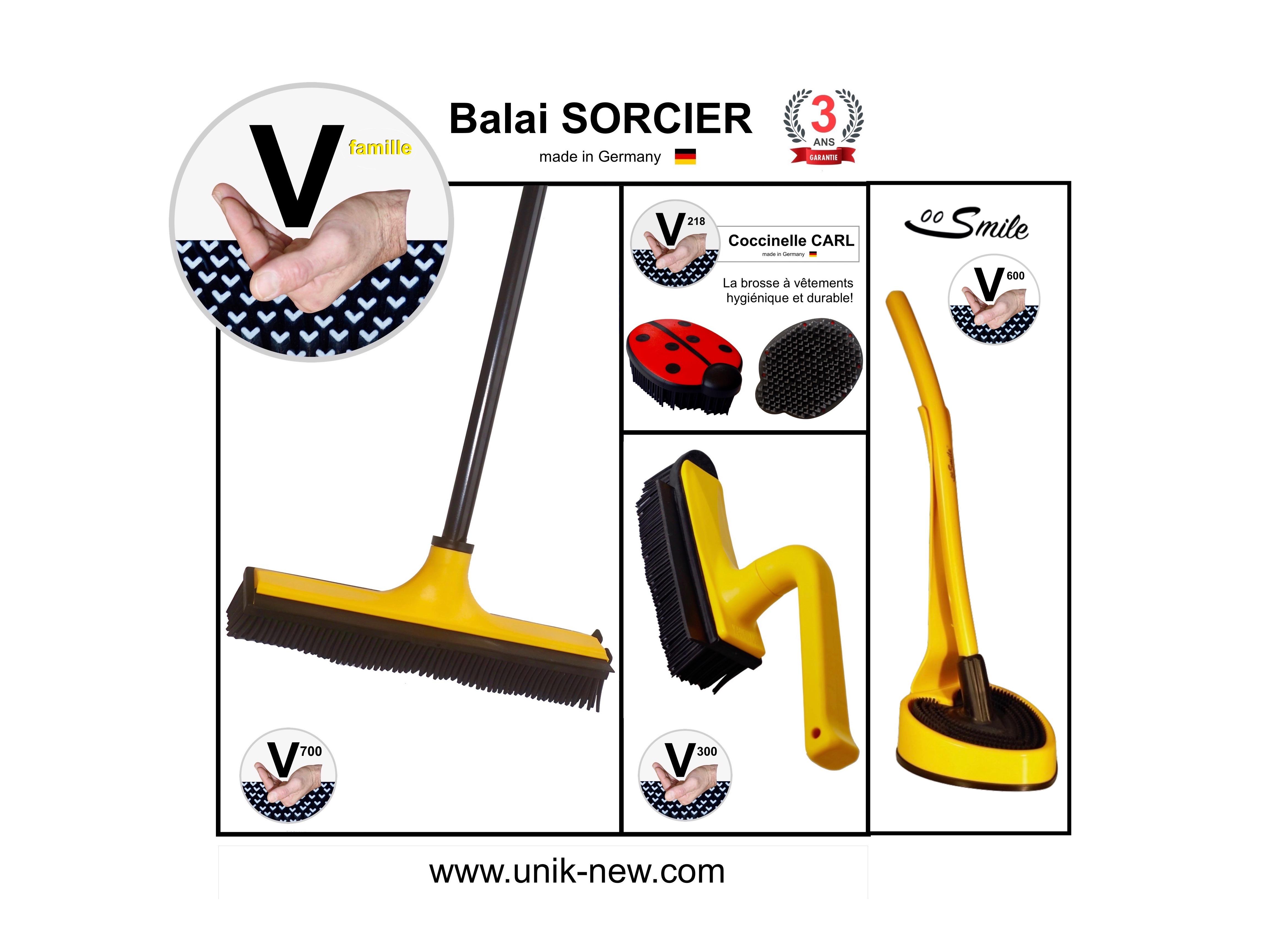 Kit Complet Balai SORCIER famille jaune