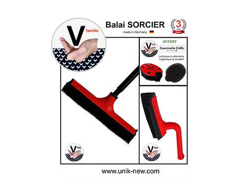 Balai SORCIER Kit V famille rouge.