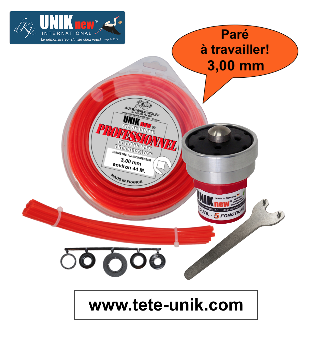 Kit UNIK technik 3,00mm 2020 site