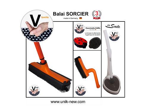Balai SORCIER Kit complet orange / SMILE blanc cristal.