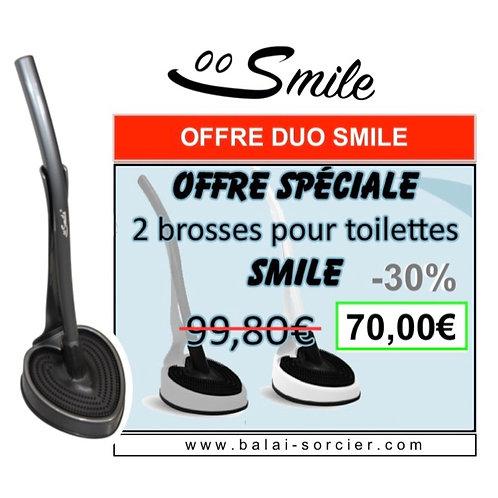 Offre DUO SMILE Brosse WC Balai SORCIER. Prix Foire de Paris Concours Lépine!