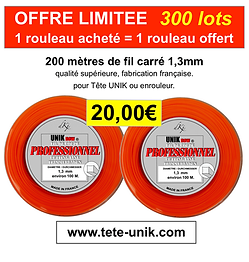 promotion fil Tête UNIK NEW 1,3mm