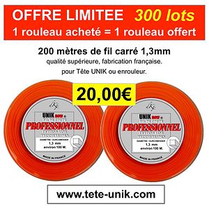 promotion fil Tête UNIK NEW 1,3mm