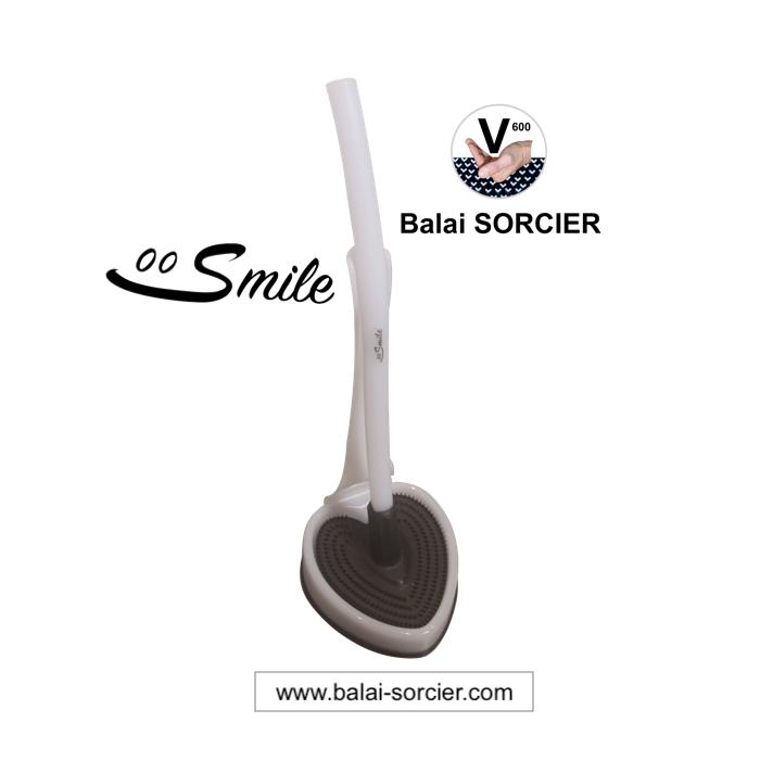 Brosse toilettes efficace et anti-goutte Smile Balai SORCIER picot V.