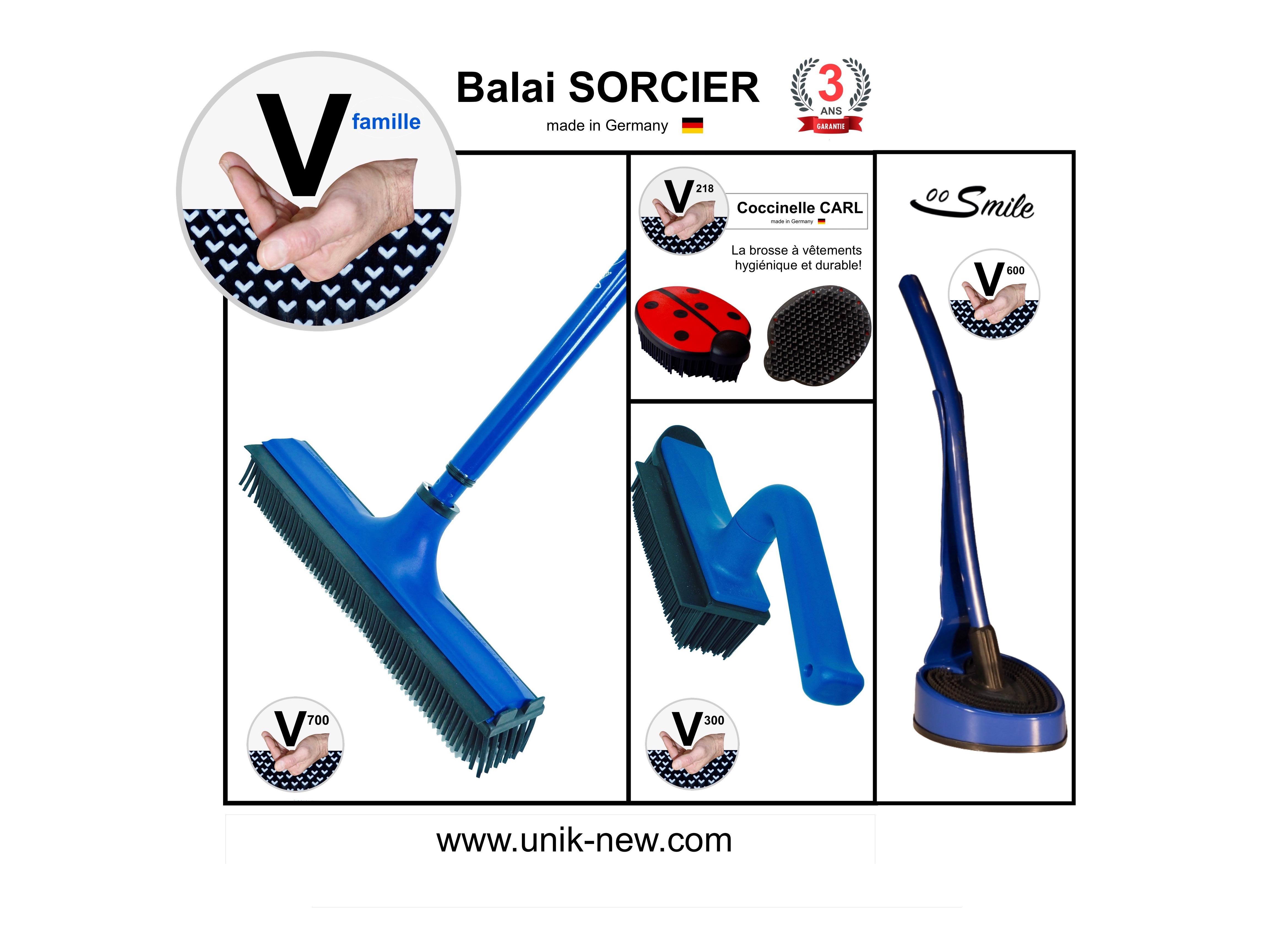 Kit Complet Balai SORCIER famille bleu 2