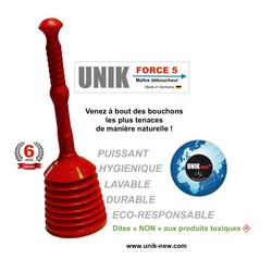 Déboucheur UNIK FORCE 5 rouge