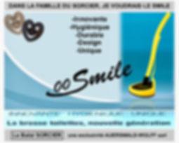 SMILE Balai SORCIER, brosse toilettes sans poils antibactérienne nouvelle génération. Equipée de 600 picots en V, de loin la meilleure brosse WC sur le marché!