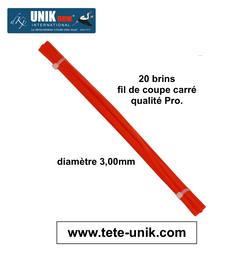 fagot 3,00mm fil Tête UNIK