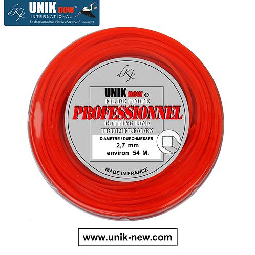 Rouleau fil carré 2,7 mm Qualité Pro UNIK new