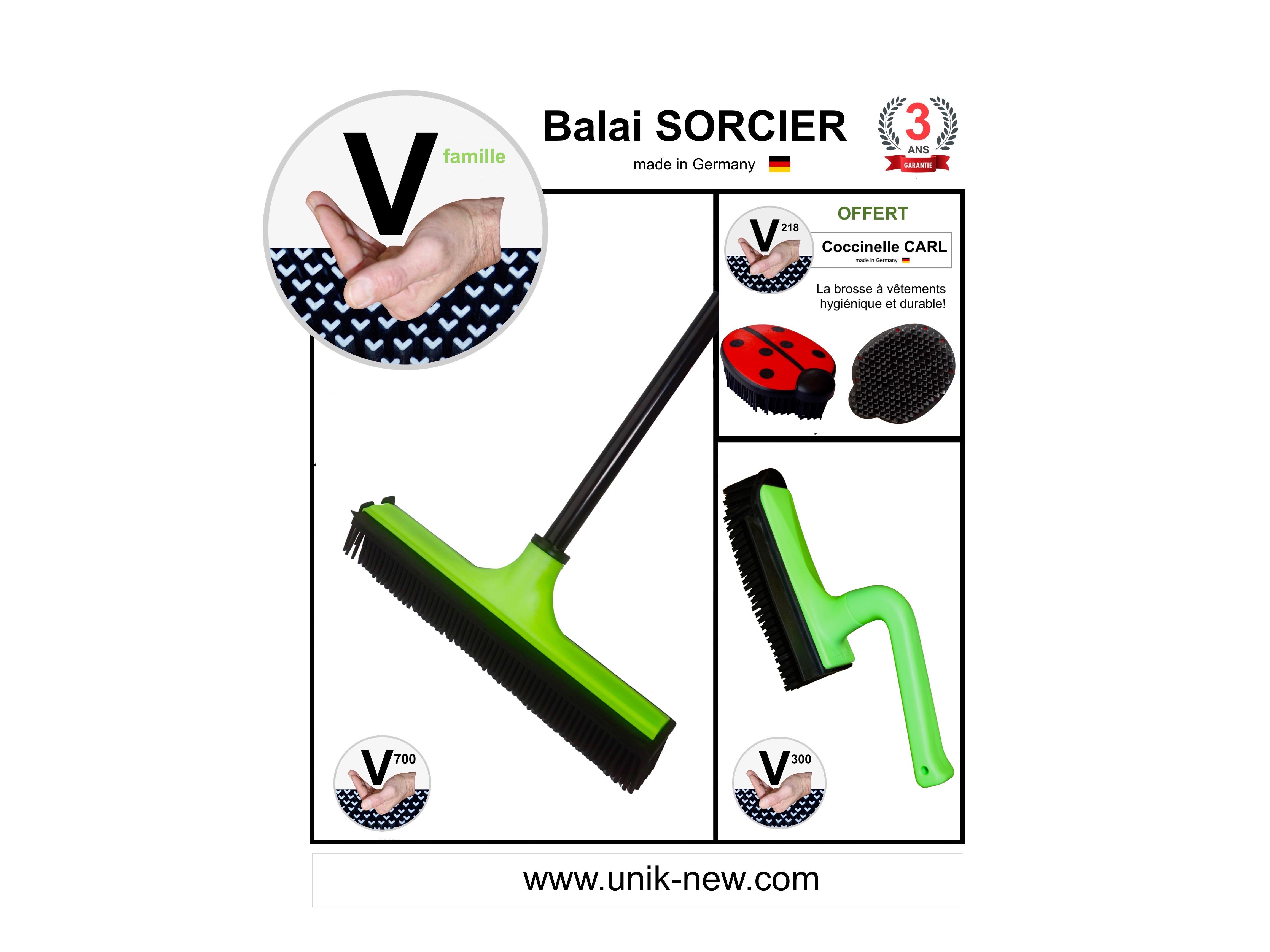 Kit promo Balai SORCIER V700 picots famille vert Mojito . UNIK NEW sasu