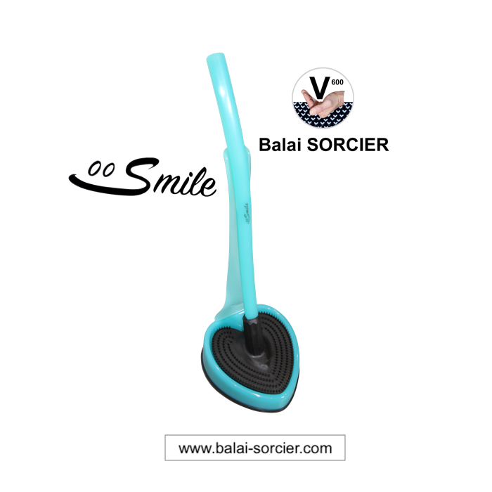 Brosse WC Smile vert cristal. Balai SORCIER