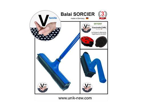 """Balai SORCIER Kit V famille """"bleu classique""""."""