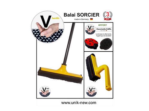 Balai SORCIER Kit V famille jaune.