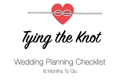 Planning Checklist - 6 Months To Go