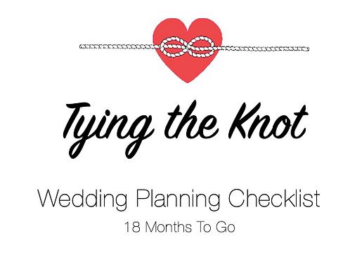 Planning Checklist - 18 Months To Go