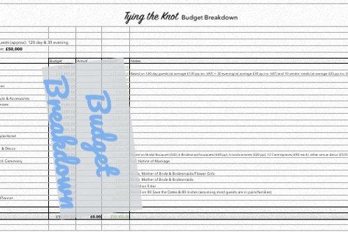 Budget Breakdown £45k