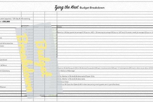 Budget Breakdown £35k