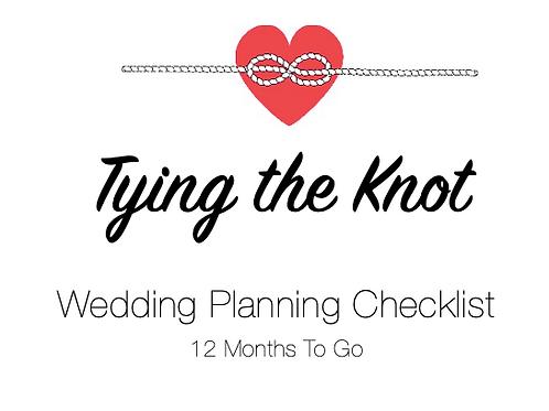 Planning Checklist - 12 Months To Go