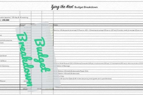 Budget Breakdown £40k