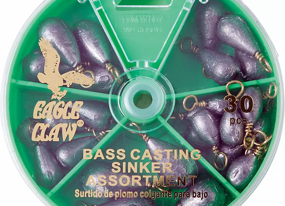 Eagle Claw Bass Casting Sinkers
