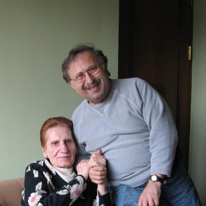 A tender moment with Gohar Harutiunyan, the founder of House-Museum of Aram Khachaturian  (Yerevan, Armenia, 2001)
