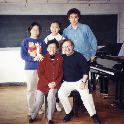 A group of piano students  (Xian, China, 2002)