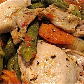 Chicken with Okra