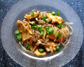 Mushrooms with Noodles (Asian style)