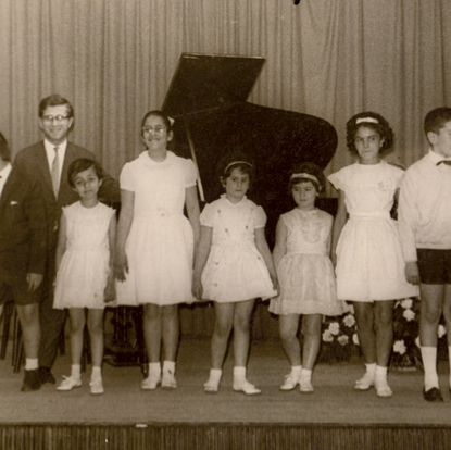 A group photo of piano students  (Istanbul, Turkey, 1961)