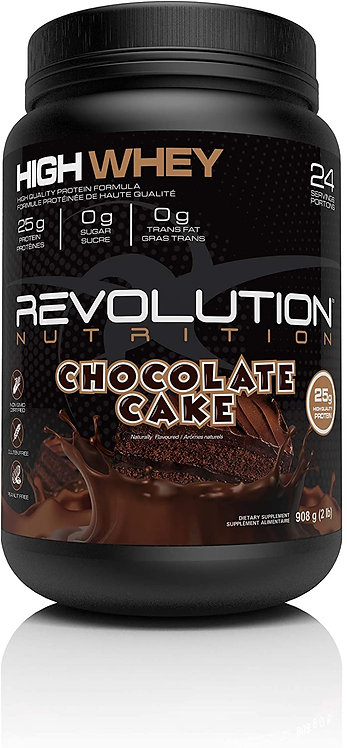 revolution 2lb high whey protein powder