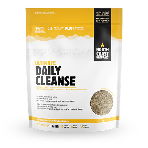 North Coast Naturals Ultimate Daily Cleanse 1000g with probiotics and fiber to aid in digestion