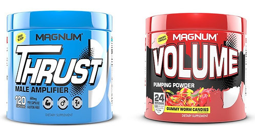 Magnum nutraceuticals thrust male amplifier with free volume pump powder