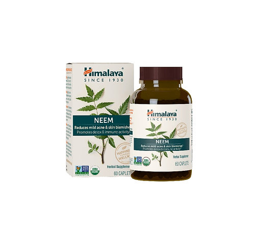 himalaya 60 capsules of neem for reducing mild acne and blemishes