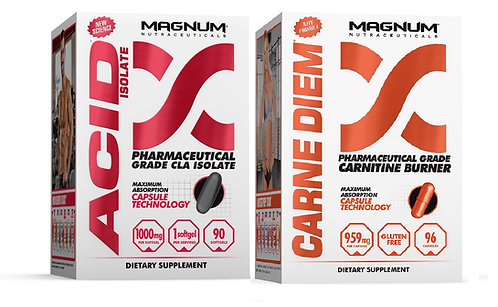 Magnum Nutraceuticals Free Acid isolate CLA with purchase of carne diem L-carnitine