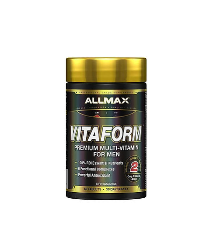 allmax 60 tablets vitaform premium multivitamin for men
